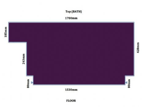 Custom Made High Gloss Aubergine / Purple Bath Panel all Styles